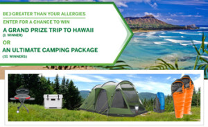 Glaxosmithkline – 2016 Flonase Fall – Win a grand prize of a trip for 4 to Hawaii OR 1 of 50 camping packages