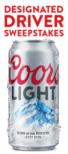 MillerCoors – Coors Light Online Designated Driver – Win a trip for 2 to the Rose Bowl OR 1 of 100 Coors Light rolling coolers
