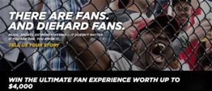 Sears – Diehard Fan – Win 1 of 14 travel certificate valued at $4,000 each