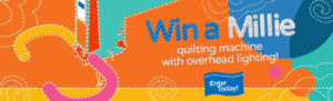 APQS – Millie Longarm – Win a grand prize of an APQS Millie longarm quilting machine valued at $19,695 OR 1 of 3 monthly prizes