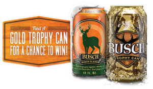 Anheuser-Busch – Busch/Busch Light Hunting Game – Win 1 of 5 grand prizes of a Hunting Adventures for 2 OR 1 of 1 of 26 minor prizes