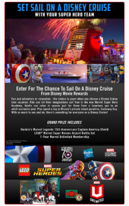 Buena Vista Home Entertainment – Marvel's Captain America: Civil War – Win a 4-night Bahamian Disney Cruise Line Vacation for 4 plus more