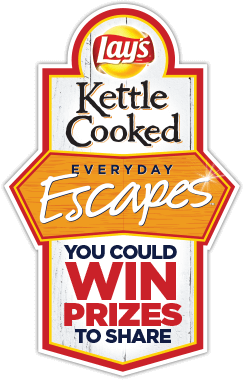 Frito-Lay – Lays Kettle Cooked Everyday Escapes – Win 1 of 2 $2,000 Lowes gift cards; 1 of 8 trips for 2 OR over 200 Instant-Win Prizes