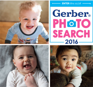 Gerber – Photo Search 2016 – Win a grand prize of $67,040 including cash and merchandise OR 1 of 6 minor prizes