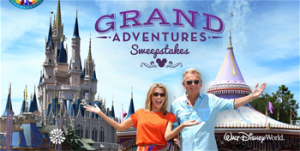 Wheel of Fortune – Grand Adventures – Win 1 of 5 trips for 4 people to the Walt Disney World Resort