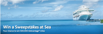 American Airlines – Win a Sweepstakes at Sea – Win a Cruise for 2 plus 500K AAdvantage® miles OR 1 of 5 runner-up prizes