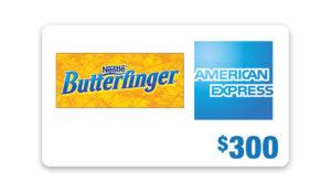 Ellentv – Win a $300 American Express Gift Card from Butterfinger