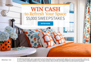 Meredith – Better Homes and Gardens – Win $5,000 cash