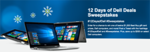 Best Buy – 12 Days of Dell Deals – Win 1 of 12 grand prizes of a $1,200 Best Buy Gift card OR 1 of 12 minor prizes
