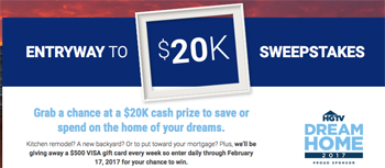 REALTOR.COM® – Win a grand prize of $20,000 cash OR 1 of 7 Weekly Prizes of $500 cash each