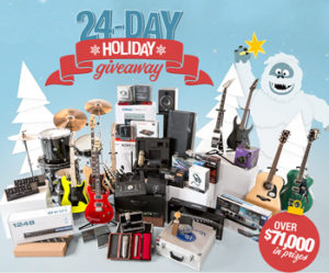 Sweetwater – 24-Day Holiday Giveaway – Win fantastic prizes