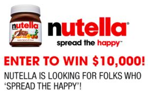 ellentube – Nutella Spread the Happy – Win $10,000