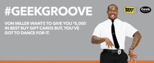 Best Buy – Von Miller – Win $5,000 Gift Card with #GeekGroove Sweepstakes
