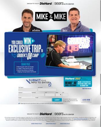 ESPN Radio – Win an Exclusive Trip To Gruden's QB Camp, Orlando