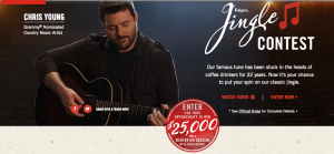 Folgers – Jingle Contest – Win a grand prize of $25,000 OR 1 of 4 minor prizes