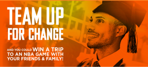 Frito-Lay – Ruffles Black History Month Team Up for Change – Win a trip for 5 to an NBA Game with friends and family