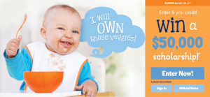 Gerber – MYGERBER GOALS – Win a $50,000 Scholarship and $15,540 USD cash plus instant win prizes