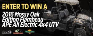 Mack's Prairie Wings – Signup to Win a 2016 Mossy Oak Edition Flambeau API All Electric 4×4 UTV