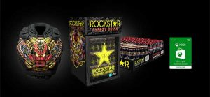 Microsoft – Rockstar – Win A Jesse Hernandez custom painted Replica Chest Armor, Fridge or a year's of Rockstar Energy Drinks