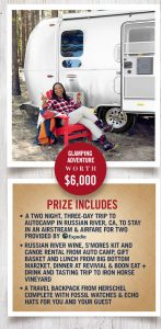 Oprah Magazine – Win a Two Night Trip to Autocamp in Russian River, CA, worth $6,000