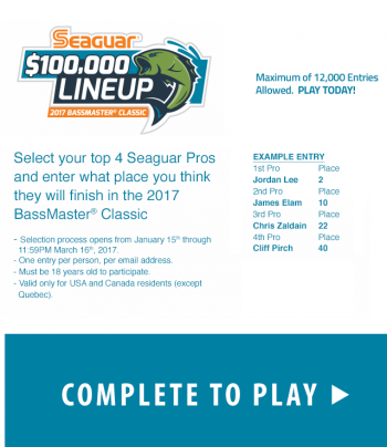 Seaguar – Win $100,000 With Seaguar $100,000 Lineup Promotion