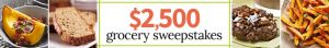 Better Homes & Gardens – Win a $2,500 check to use towards grocery bill