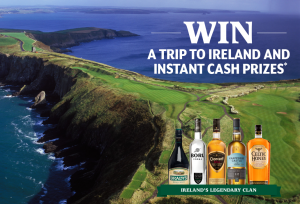 Castle Brands – Irish to the Core 2017 – Win a trip for 2 to Dublin, Ireland OR hundreds of Instant Win Game Prizes