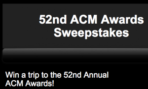 Cumulus Media – Kix Brooks Radio – 52nd Annual ACM Awards – Win a trip for 2 to the ACM Awards in Las Vegas valued at $3,750