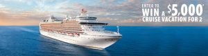 Expedia Cruiseshipcenters – Win a Cruise Vacation for 2 valued at $5,000 USD