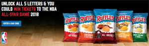 Frito-Lay – Ruffles RIDGE Challenge – Win 1 of 2 grand prizes of a trip for 2 to the NBA OR hundreds of minor prizes
