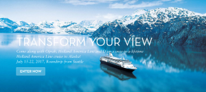 Hearst – The Oprah Magazine Adventure of Your Life Cruise – Win 1 of 3 Holland America Line cruises to Alaska for 2 valued at $6,498 each