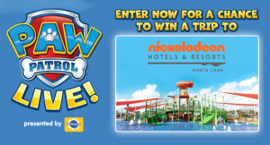 Nickelodeon – Paw Patrol Live Sweepstakes – Win a 4 night family trip for 4 to Nickelodeon Hotels & Resorts Punta Cana in the Dominican Republic