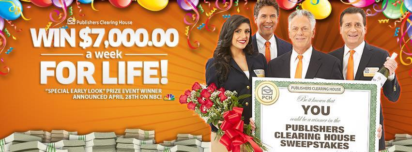 PCH – Publishers Clearing House – Win $7,000 A Week Fo