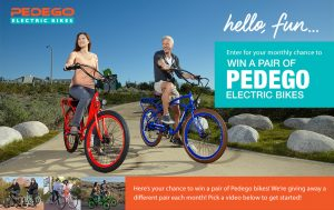 Pedego – Electric Bikes – Win 1 of 6 vouchers to purchase 2 Pedego Electric Bikes valued at $6,000