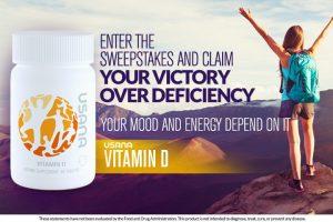 USANA – Vitamin D – Win 1 of 1,000 USANA Vitamin D bottles valued at $23.05 each