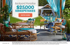 Better Homes & Gardens – Backyard Paradise – Win a $25,000 check