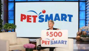 Ellen TV – Win a $500 PetSmart Gift Card
