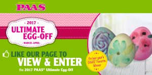 PAAS – Easter Egg 2017 Ultimate Egg-Off – Win $1,000 OR 1 of 12 minor prizes