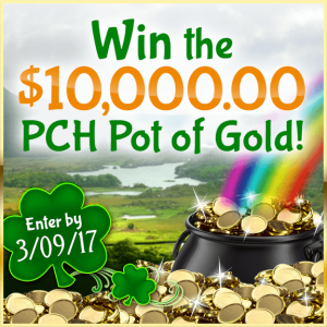 PCH – Publishers Cleaning House – Win $10,000 PCH Pot of Gold in Green on St. Patrick's Day