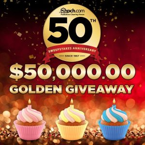 PCH – Publishers Clearing House – Win $50,000 Golden G
