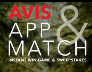 AVIS Budget Car Rental – AVIS APP & Match – Win a grand prize of $5,000 OR 1 of 110 Instant Win prizes