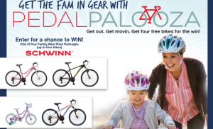 Land O'Frost – Pedalpalooza – Win 1 of 4 Family Bike Prize packages; 1 of 40 Schwinn Bike Accessory prize packages and other 280 prizes