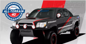 RTM BF Goodrich – All-Terrain 40th Anniversary Tires – Win a 2011 Toyota Tacoma with performance upgrades valued at $22,000