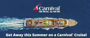 Ellen TV – Carnival Cruise – Win 1 of 4 cruises for 2 onboard a Carnival Cruise Line valued at up to $1,975
