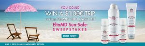 EltaMD – Sun-Safe – Win an American Express gift card valued at $1,000 OR 1 of 31 minor prizes of a gift bag consisting of EltaMD products