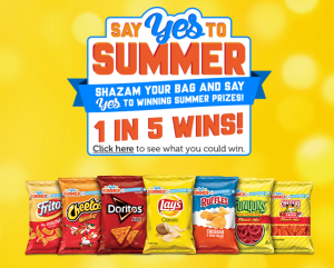 Frito-Lay – Say Yes To Summer – Win a share of $2,194,270 in trips, gift cards and instant win prizes