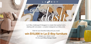 La-Z-Boy – Design Dash 2017 – Win $15,000 in La-Z-Boy furniture