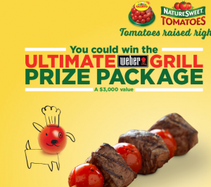 NS Brands – Naturesweet – Sweeten Your Grill – Win a grand grill prize package valued at $3,005 OR 1 of 7 first prizes