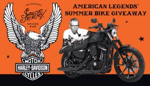 """William Grant & Sons – Sailor Jerry Spiced Rum """"American Legends Summer Bike"""" – Win 1 of 21 customized Harley-Davidson motorcycles"""