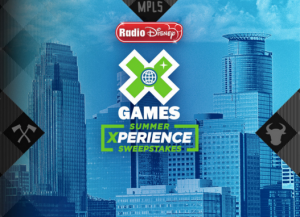 ABC Radio Disney – X Games Summer Xperience – Win a 4-day trip for 4 to attend the X Games 2017 in Minneapolis, MN